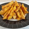 Fırında Baharatlı Susamlı Çıtır Patates